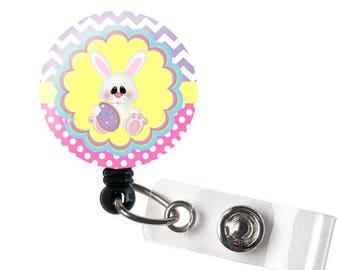 Easter badge reel etsy easter bunny retractable id badge reel alligator swivel clip id badge holder teacher nurse badge clips best gift idea negle Images