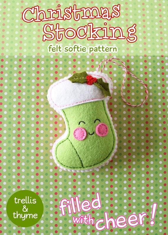 PDF-Muster Weihnachts-Strumpf Filz Muster Kawaii Filz