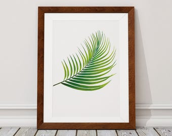Palm Leaf Digital Download, Palm Leaf Digital Print, Palm Leaf, Leaf, Tropical leaf, Digital Download, Digital Print