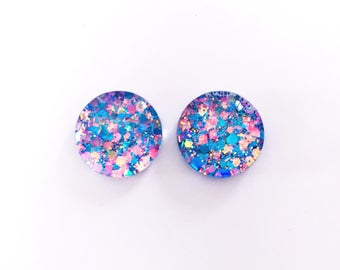 The 'Girls Just Wanna Have Fun' Glitter Glass Earring Studs