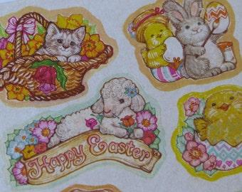 8 Vintage Current Easter Sticker on Sheet 1980