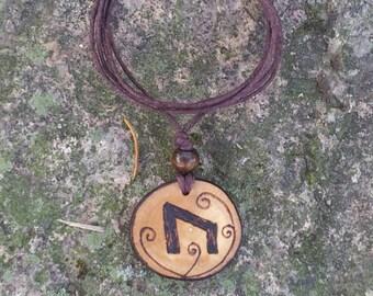 Uruz Elder Futhark Rune Necklace, Uruz Pendant,  Rune Pendant, Rune Necklace, Pagan Jewelry, Wiccan Jewelry, Witch, Witchcraft, Magick
