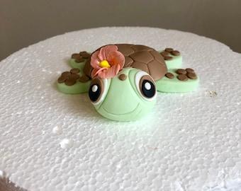 Fondant Sea Turtle Cake Topper
