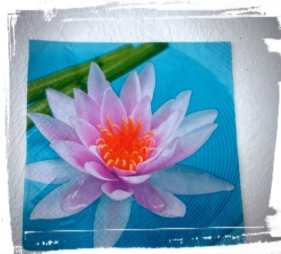 Lotus flower1 single decoupage paper napkin tissue napkins lotus flower1 single decoupage paper napkin tissue napkinsmeditationscrapbookingcollagelilis pond mixed media serviettescrafts from magdalenamagic mightylinksfo Gallery