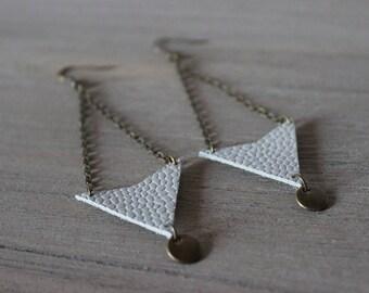 Earrings • grey • CALI / bronze