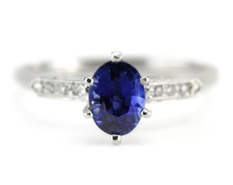 The Madbury Sapphire Engagement Ring by Elizabeth Henry 6XUDJP7J