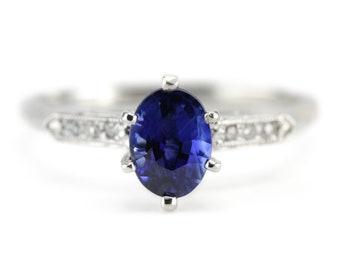 The Madbury Sapphire Engagement Ring by Elizabeth Henry 6XUDJP7J