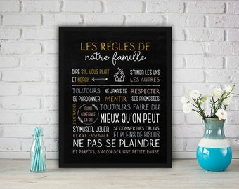 Rules poster. Decoration