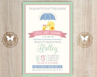 Printable Duck Baby Shower Invitation, Duck Invitation, Baby Shower, Printable Invitation, DIY Invitation, Baby Shower Invitation