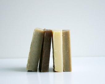 Shampoo Bar Sample Set - Natural Hair Care- 4 Shampoo Soap Samples