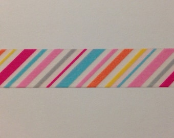 "Spring Stripes Washi Tape 24"" Sample"