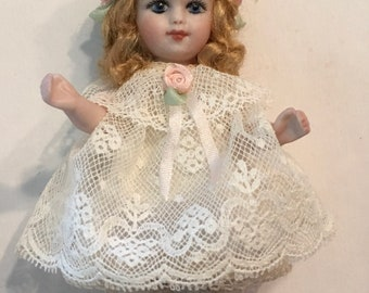 "All Bisque Doll 4"" Artist Made"