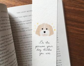 Shih Tzu Bookmark, Dog Lover Gift, Shih Tzu Art, Dog Bookmark, Dog Mom Gift, Dog Illustration, Shih Tzu Lover Gift, Cute Bookmark