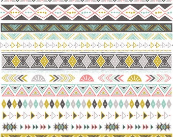 Frontières de ruban tribal clip art, ruban, ruban aztèque, frontières ethniques, natives american, frontières. 12 fichiers de format Png et Eps 300 dpi.