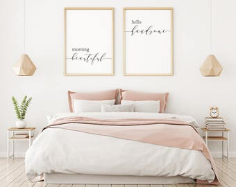 Above bed art etsy - Over the bed wall art ...