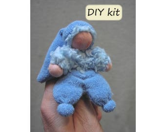 Do it yourself kit 2 noesjes for making 2 dolls with do it yourself kit finger puppetdoll duimpie instructions with solutioingenieria Choice Image