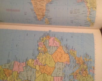 Vintage 1967 rand mcnally world atlas map page peru ecuador on 1981 rand mcnally world atlas great for your craft project gumiabroncs Gallery