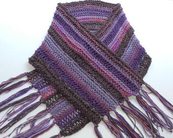 Luxurious Spring/Summer Shawl Wrap - Purple, Lavender, Rose