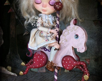 "Carousel horse ""Antique Circus"" Pink & Red edition PRE-ORDER"