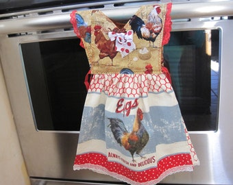 Hens and Roosters Kitchen Towel