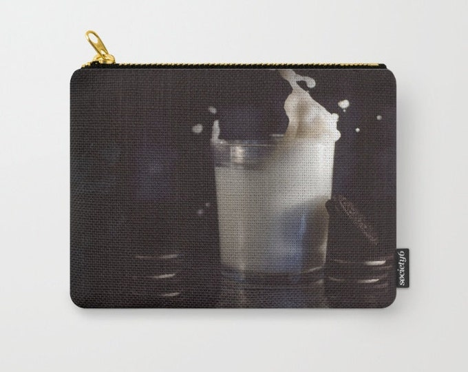 Carry All Pouch - Milk and Cookies Photo - Make-up Bag-Original Art- Pouch- Toiletry Bag - Change Purse - Organizing Bag - Made to Order