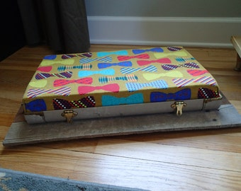 Re-purposed Vintage Suitcase Pet Bed