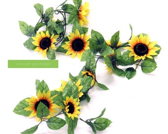 Sunflower Garland - Boho Chic Decor - Festival Vibes - Good Vibes Only Party