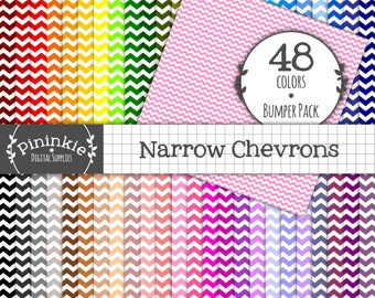 Narrow Chevron Scrapbook Paper, Background Digital Paper, Paper Pack Digital, Paper Digital,Digital Download,Instant Download,Commercial Use