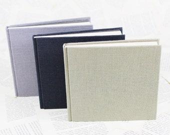 Hardcover Linen Notebook in Khaki, Light Blue or Dark Navy