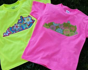 Kentucky-Kentucky Shirt-Kentucky Girl Tee-Youth Kentucky Tee-Kentucky Applique Shirt