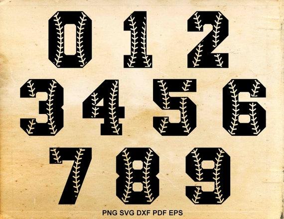 Baseball Font Svg Baseball Numbers Baseball Stiches