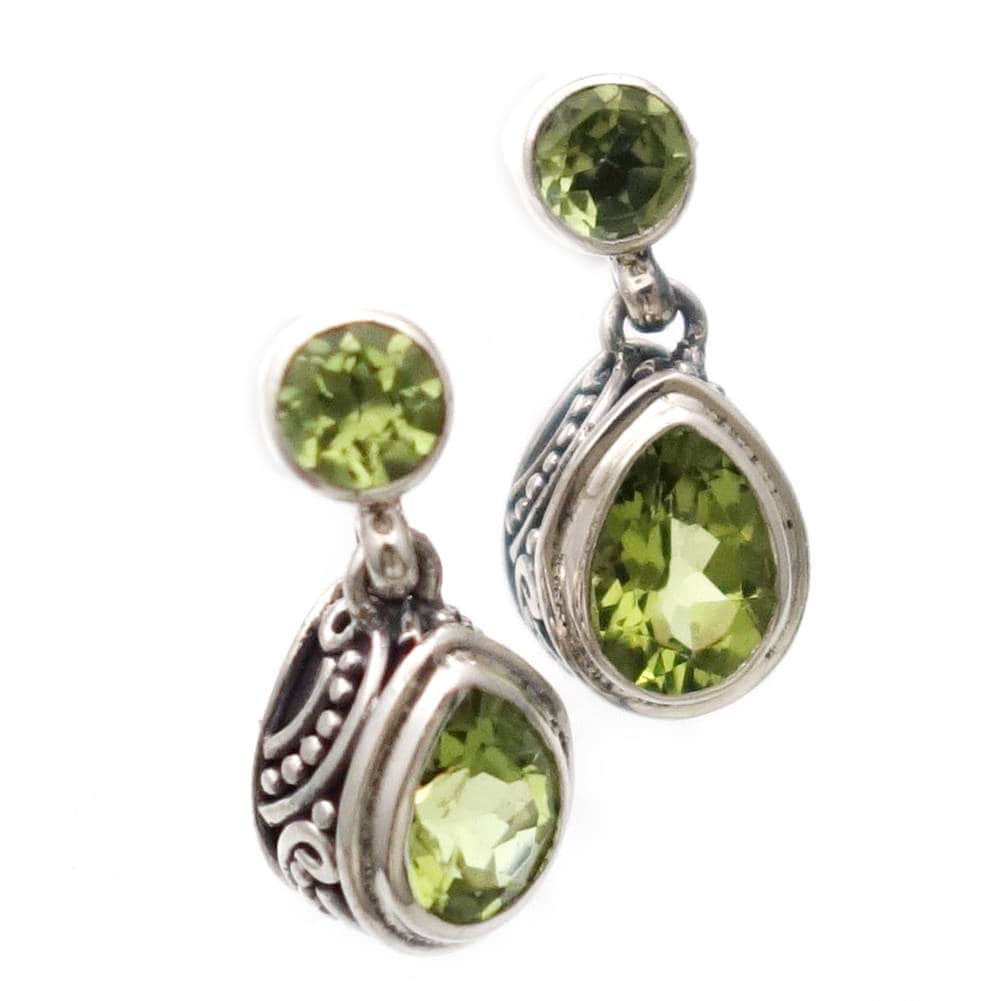 products earrings charmingthemoon peridot silver and