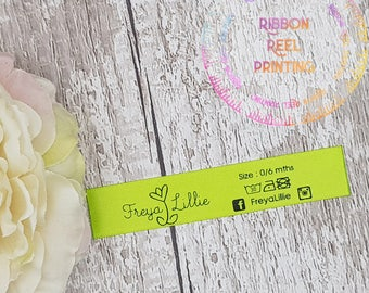 Care Labels / Bespoke Sew In Labels (15mm x 10cm) CE, EN71/3 Approved