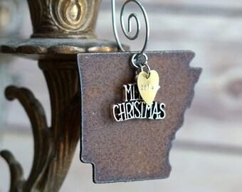 ARKANSAS Christmas Ornament, ARKANSAS Ornament, Christmas Gifts 2018 Christmas Ornaments, Personalized Gift, ARKANSAS Ornaments