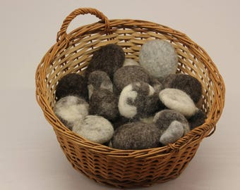 Felted Wool River Stones