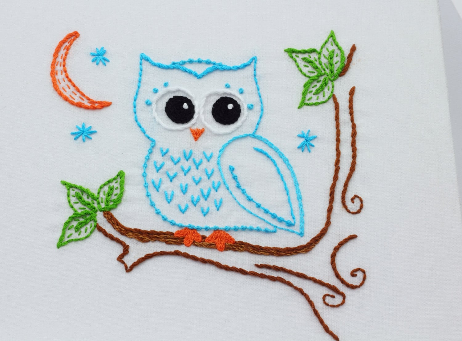 Owl embroidery pattern hand embroidery pattern owls owl design zoom bankloansurffo Gallery