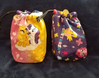 My Little Pony Handmade Drawstring bag (Dice Bag, Jewelry, Sunglasses, Change, etc)