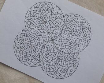 Four - Mandala Print