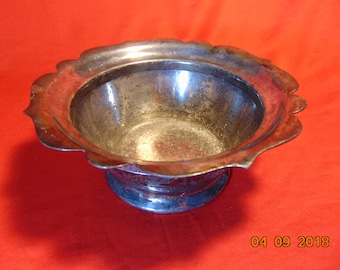 One (1), Silver Plated, Chased Bowl, from Manning, Bowman & Co., in the 2900 Pattern.