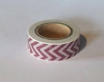 Washi tape with chevrons 10 m - Washi tape chevron purple violets