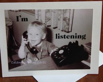 Multipurpose Greeting Card - Vintage Photo - 1960's - Illness - Sympathy - Teenager - Crisis - Breakup/Break Up - Friendship - Support
