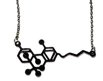 THC Molecule Necklace - 3D Printed