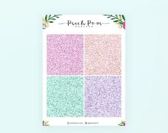 Summer - Glitter Header Planner Stickers