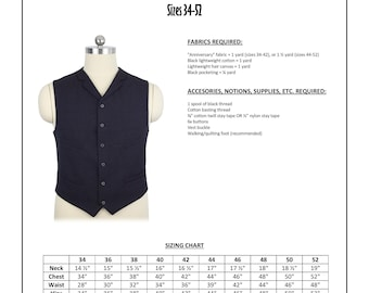 """11th Doctor """"Anniversary"""" Waistcoat Sewing Pattern - Doctor Who, Matt Smith, Eleventh Doctor Cosplay Vest Pattern"""