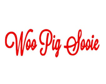 "University of Arkansas ""Woo Pig Sooie""  WPS Razorbacks decal for car, truck, laptop"