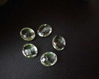 19.55 Cts Natural Green Amethyst Oval Briolette 12X10 mm - 5 Pcs