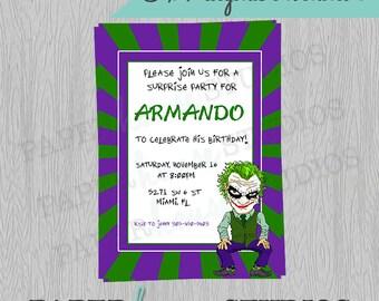 Joker 5 X 7 Digital Invitation