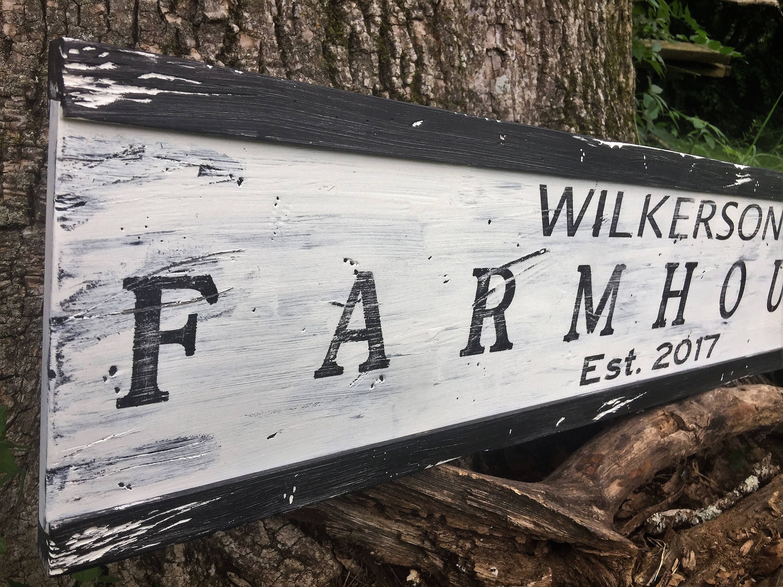 Personalized Farmhouse Sign/farmhouse decor/Custom Family Farmhouse ...
