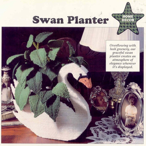 Swan Doorstop or Planter ~ Plastic Canvas Pattern from puddinpop on Etsy Studio  sc 1 st  Etsy Studio & Swan Doorstop or Planter ~ Plastic Canvas Pattern from puddinpop on ...