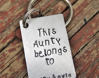 custom keychain for aunt personalized gift for aunt keychain for uncle christmas gift